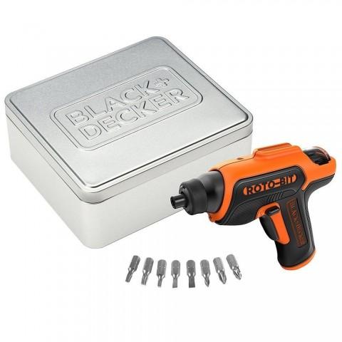 Svitavvita a batteria litio con vano porta inserti in scatola metallica