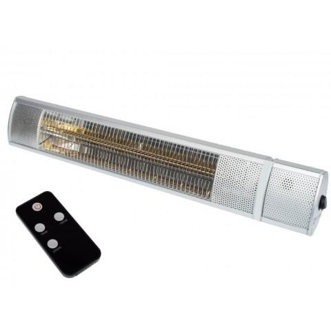 Lampada riscaldante a raggi infrarossi 2000 W con telecomando