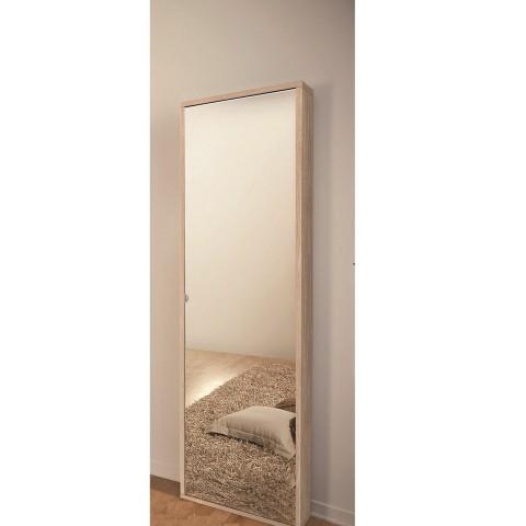 Scarpiera 1 anta con specchio colore quercia