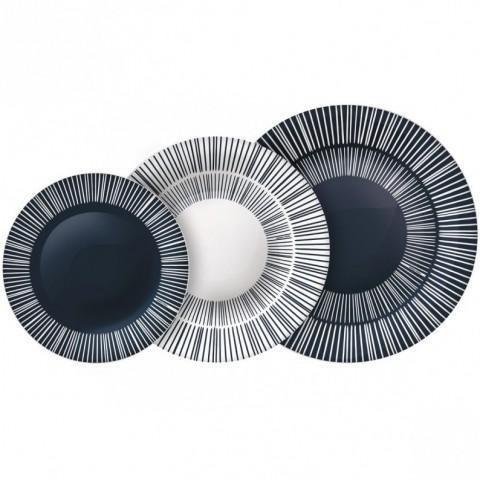 Servizio piatti Stria colore grigio 18 pezzi