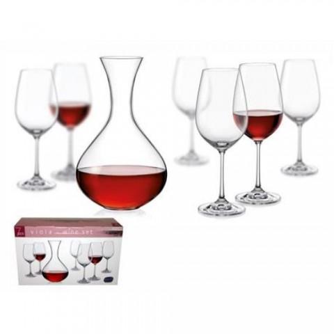 Set 7 pezzi degustazione vino Viola Bohemia