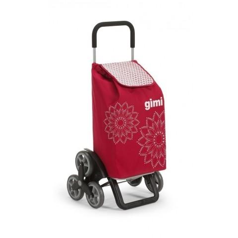 Carrello portaspesa Gimi Tris Floral rosso 56 L