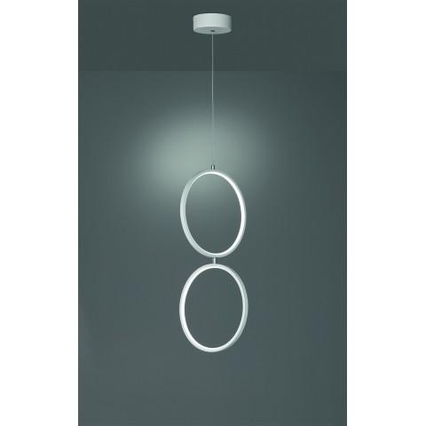 Lampada a sospensione Rondo a LED 2 cerchi