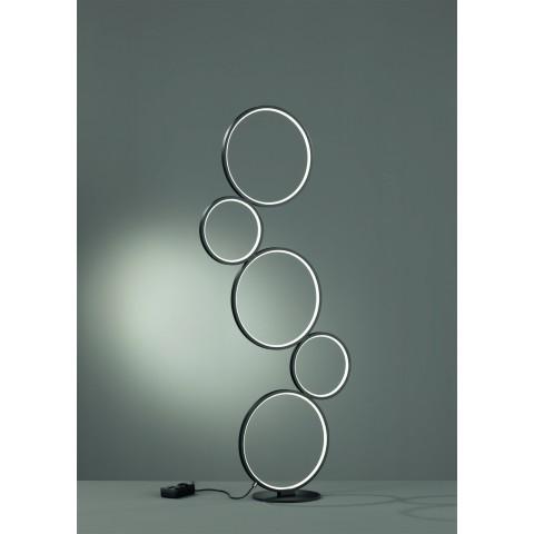 Piantana Rondo a LED 5 cerchi