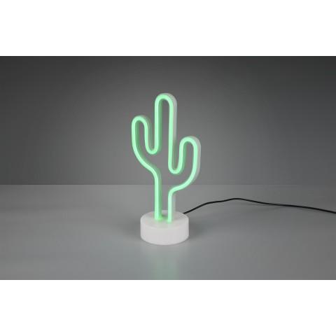 Lampada da tavolo Cactus a LED colorato verde