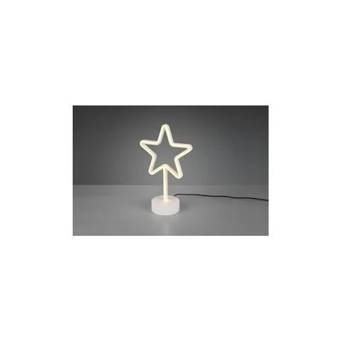 Lampada da tavolo Stella a LED colorato giallo
