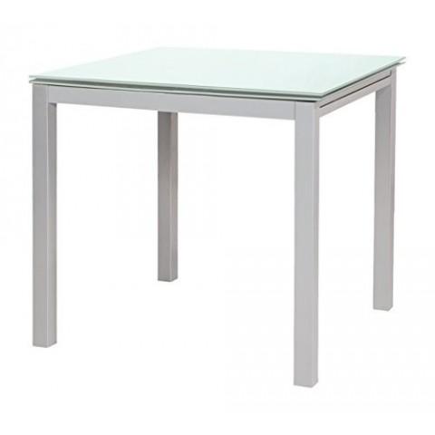 Tavolo quadrato allungabile Fast Evolution in vetro bianco