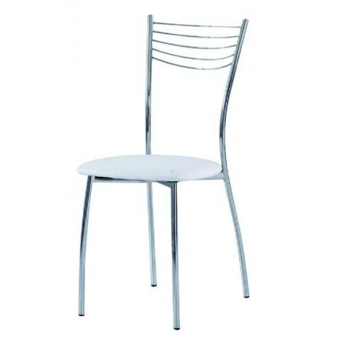 Sedia in ecopelle bianca