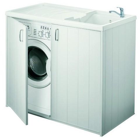 Lavatoio coprilavatrice 2 ante con lavandino