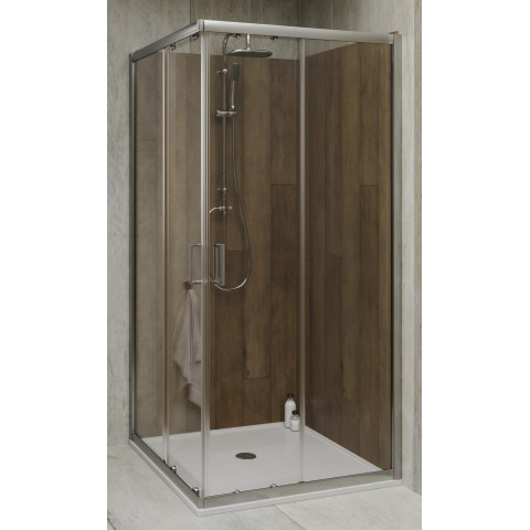 Box doccia rettangolare 70x90 cm cristallo trasparente 6 mm