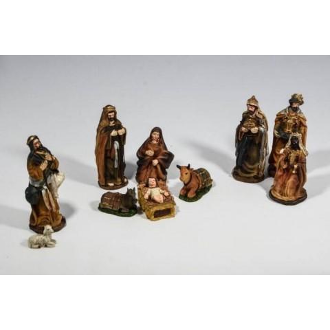 Set natività statue presepe 10 pezzi