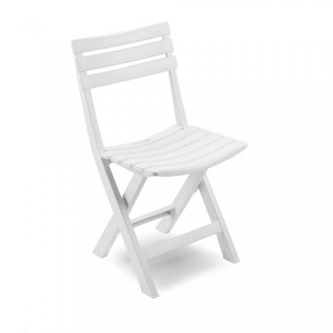 Sedia Birki pieghevole in Polipropilene colore bianco