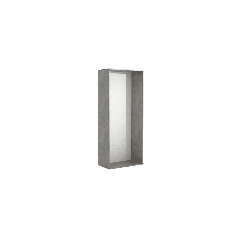Scocca per scarpiera componibile puzzle 67x17x147 cm colore grigio
