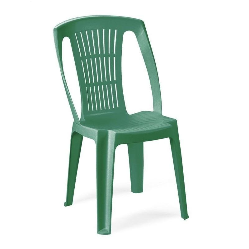 Sedia Stella monoblocco senza braccioli colore verde