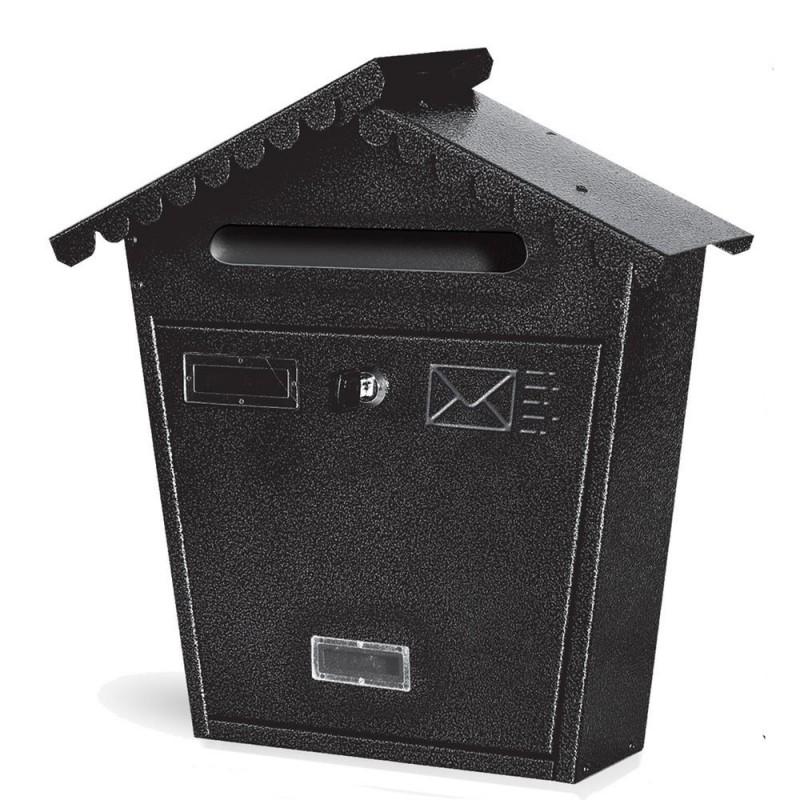 Cassetta postale modello retto 37x13x38h cm colore nero