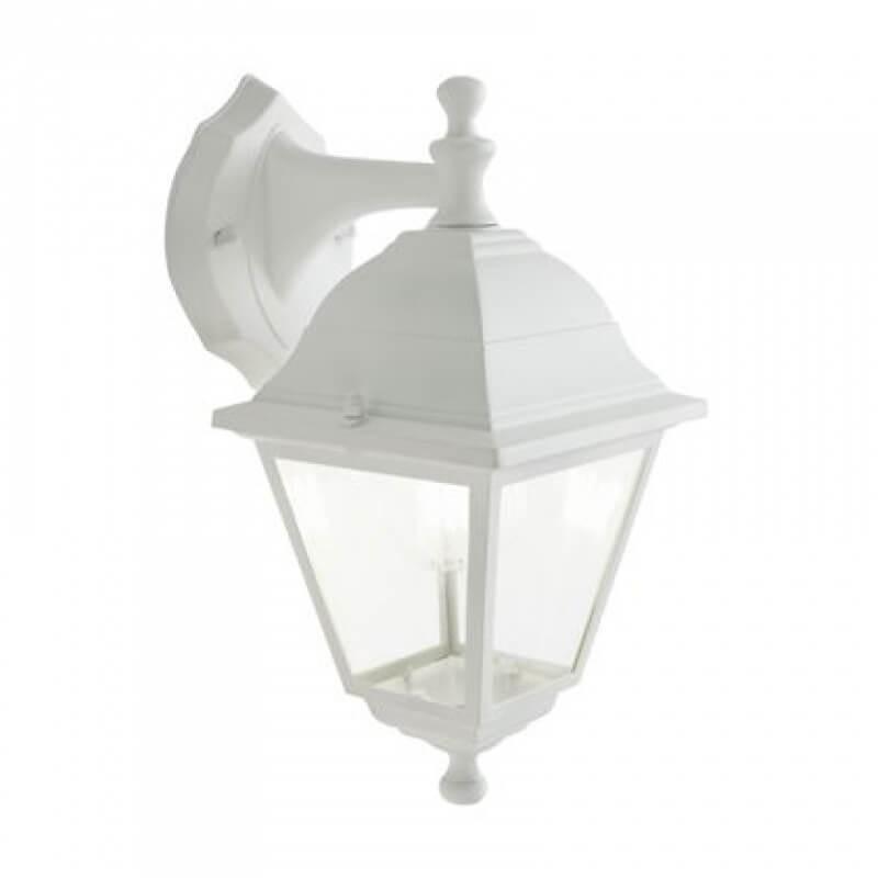 Applique lanterna da esterno bianca vintage