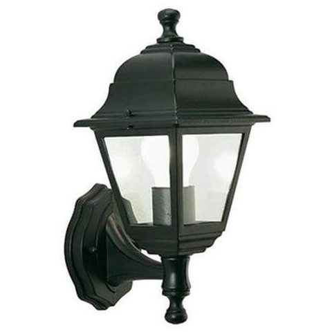 Applique lanterna nana in alto da esterno nera