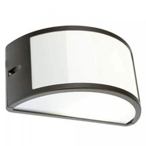 Applique Aperta Serie Umbe in alluminio nera