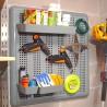Portaoggetti Modulare da Parete 60 x 60 cm, Portaattrezzi in kit Organizzatore da muro