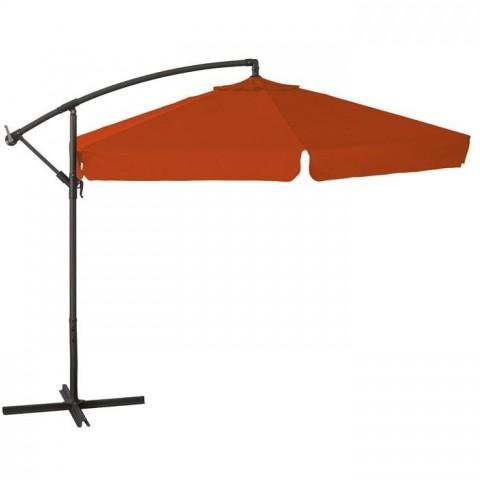 Ombrellone a braccio Ø 3mt in acciaio arancione e palo nero