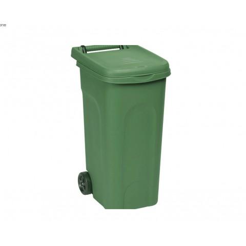 BIDONE PLASTICA URBAN ECO SYSTEM 80 LT VERDE