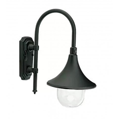 APPLIQUE LAMPADA LAMPARA DOWN E27 NERO