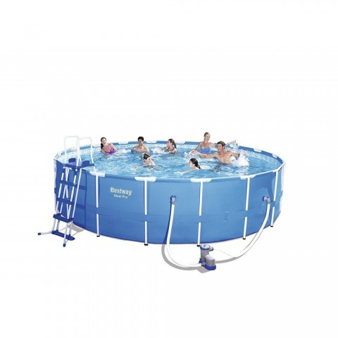 Lay-Z-Spa Bestway Steel Pro 56401 - 1200 L - Piscina con bordi - Blu