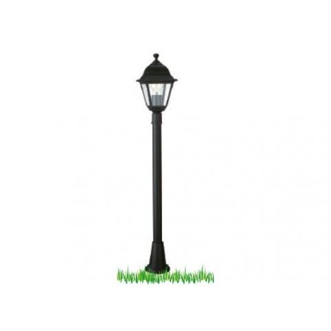 Palo con lanterna lima nero