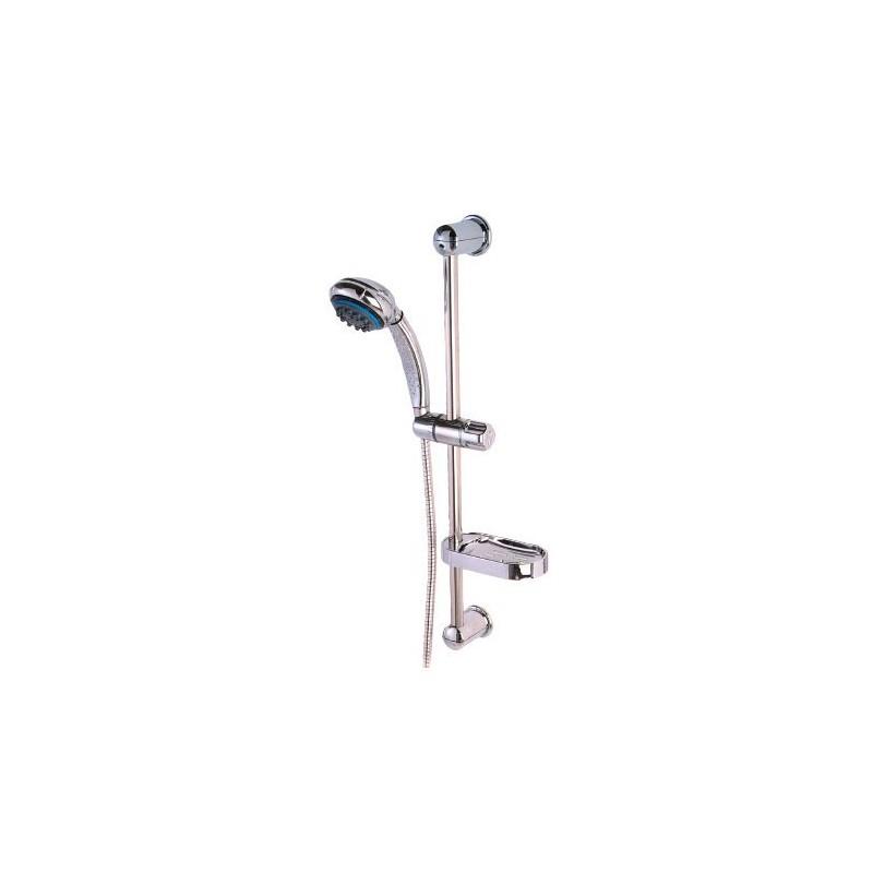 Saliscendi cromato con doccia 8 funzioni