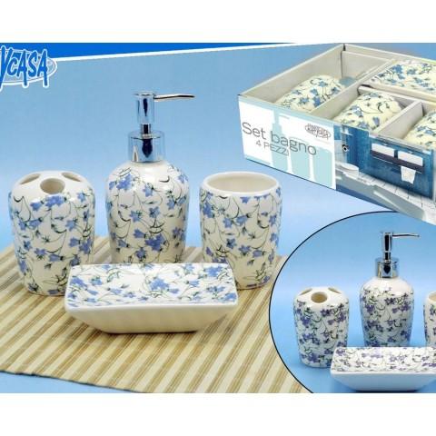 Set bagno lily 4 pezzi
